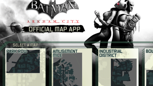Arkham City's Official Map App Gives Aid to Trophy Hunters