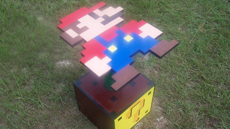 This Super Mario Side Table Makes Your Home a Mushroom Kingdom Castle