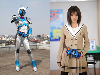 A Japanese Schoolgirl Finally Rides with Kamen Rider