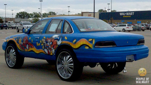 The Time a Fan of Sonic the Hedgehog and Truck Nuts Drove to Walmart