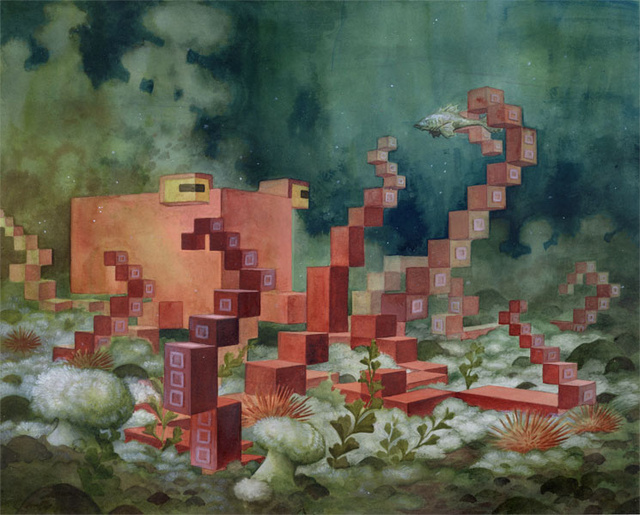 Enjoy The Serenity of Pixelated Nature with Laura Bifano's 8-Bit Animals