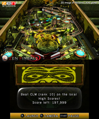 Zen Pinball 3D Coming to 3DS via Nintendo eShop This Fall