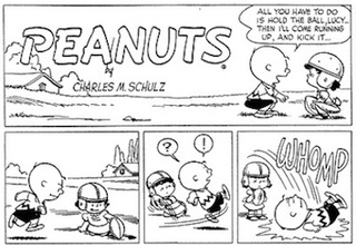 Today's The 58th Anniversary Of Lucy Snatching Charlie Brown's Football