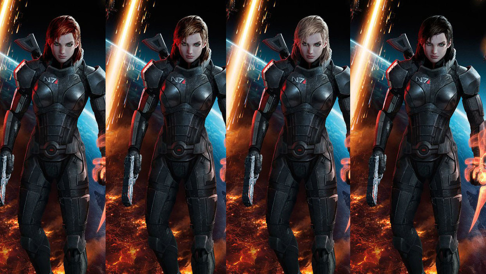 You Picked FemShep's Look, Now Pick Her Hair Color