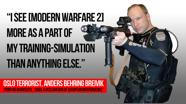 "Oslo Terrorist Used Modern Warfare 2 as ""Training-Simulation"", World of Warcraft as Cover"