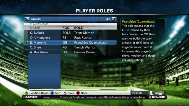 Madden NFL 12 Franchise Mode Gallery