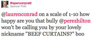 Spencer Pratt Calls Out Perez Hilton On His Anti-Bullying Stance