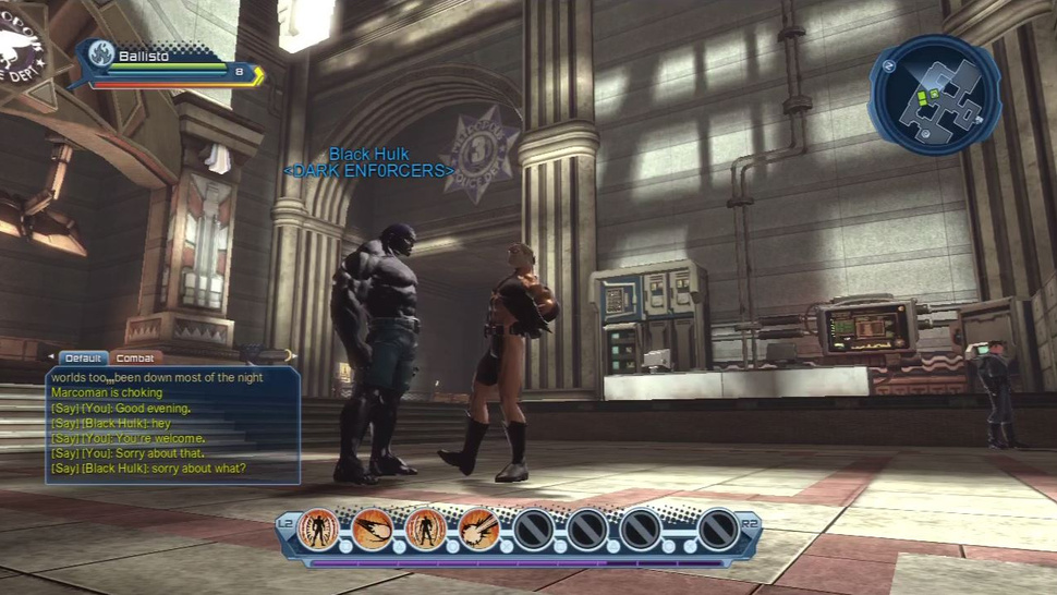 D.C. Universe Online MMO Log Screens