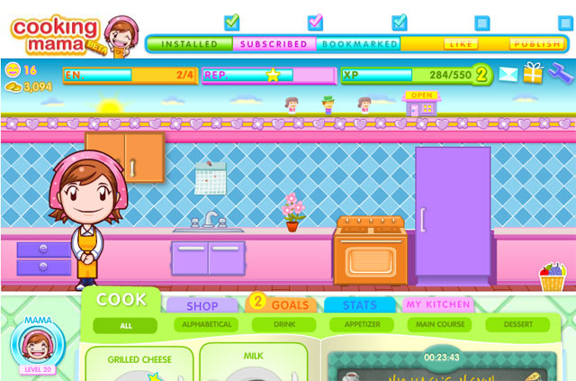 Cooking Mama Barges Into Café World's Kitchen