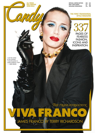 James Franco Cross-Dresses For Transvestite Magazine Cover