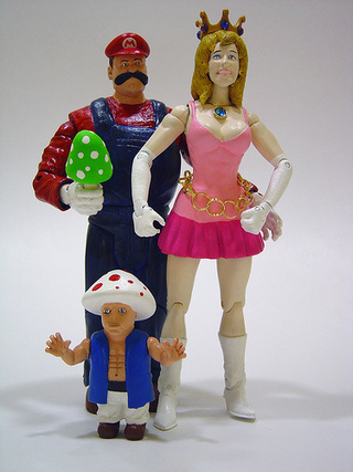 Nintendo Characters Covered In Plastic And Strung Out On Crack