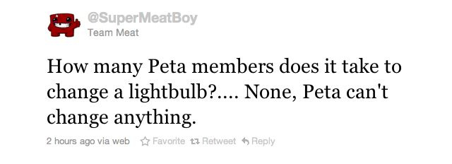 Super Meat Boy Responds To PETA Tofu Roast