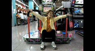 Father And Son Gang Up To Annoy DDR Player