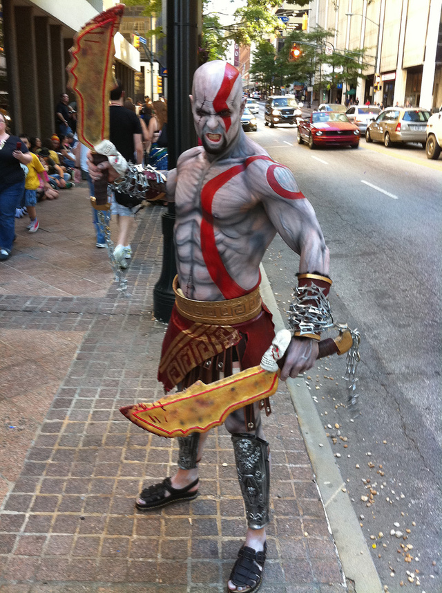 Kratos Walks The Streets Of Atlanta