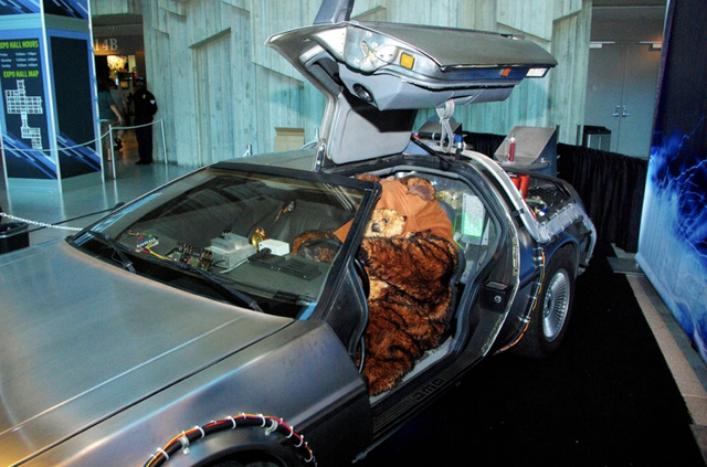 Yep, An Ewok In A Delorean