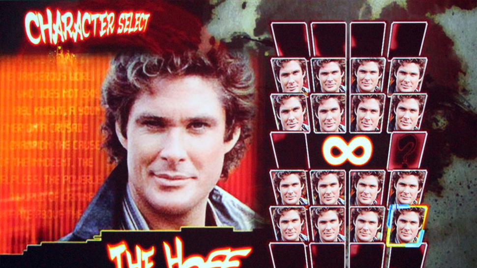 Street Fighter Creator Shows Off His Worst Best Idea, Hasselhoff Vs. Hasselhoff