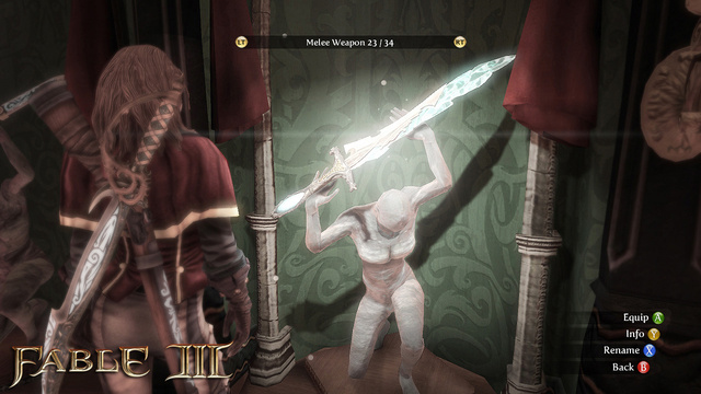Fable III Screens Do Combat, Level Up
