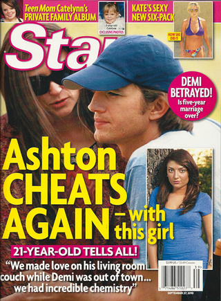 This Week In Tabloids: Ashton Cheats On Demi (Again)