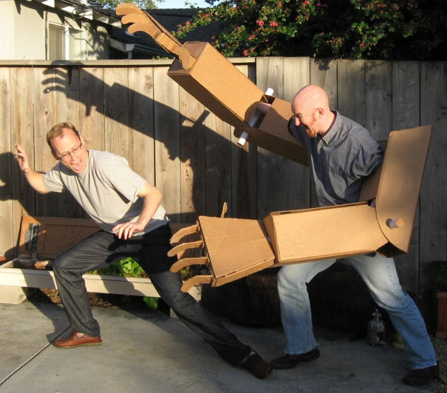 Giant Cardboard Robot Arms, REPEAT, Giant Cardboard Robot Arms