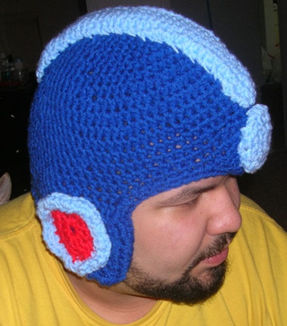 Look What Mega Man Won From Crochet Man