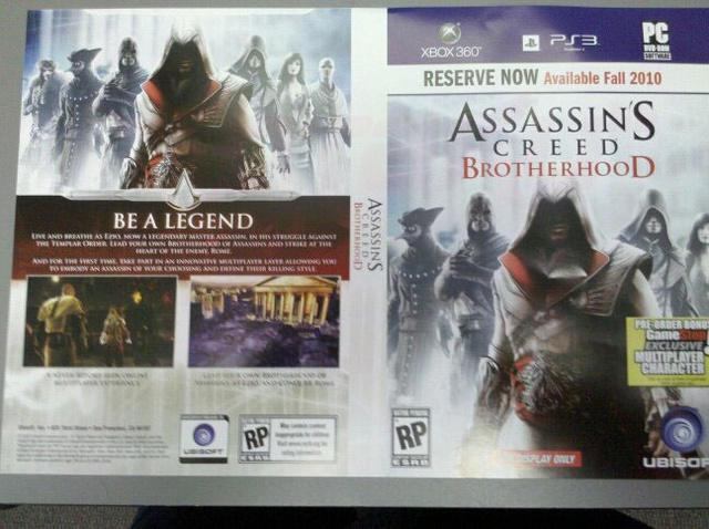 GameStop Placeholder Art Names Assassin's Creed: Brotherhood - Update