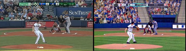 Broadcast Camera Angles in MLB 2K10