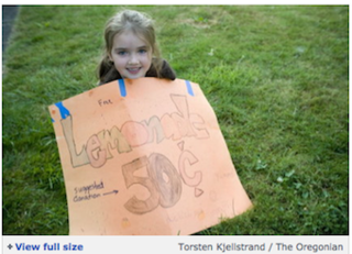 Little Girl's Lemonade Stand Closed For Operating Without A License