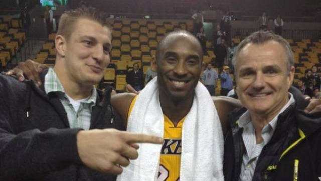 Don't Tell Rodney Harrison, But Rob Gronkowski Posed For A Photo Last Night With Kobe