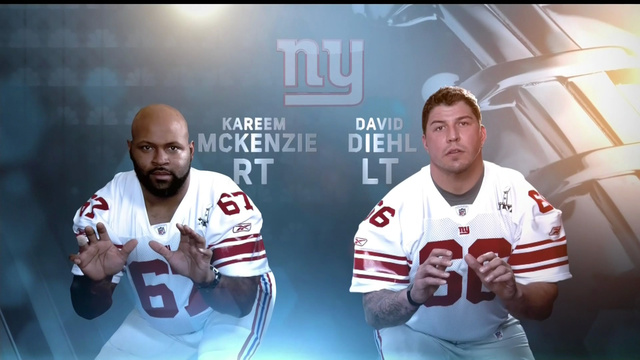 NBC's Graphics For The Giants Offensive Linemen Make Them Look Like Sex Offenders