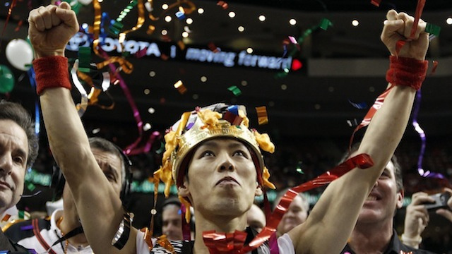 Kobayashi Almost Pukes, Smiles At The Cameras, Obliterates Wing Bowl Record