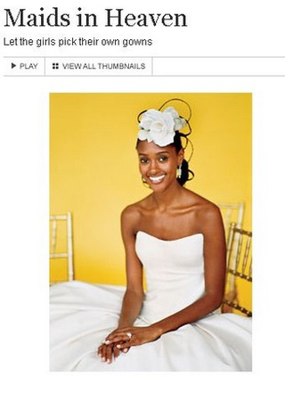 At Brides.com, It's A Very White Wedding