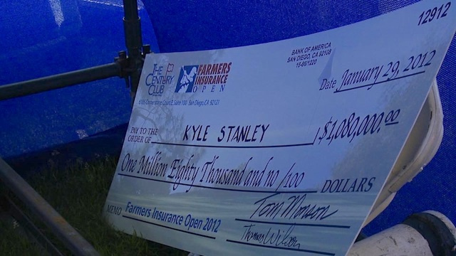 Torrey Pines Cut Kyle Stanley One Of Those Oversized Checks Before His Epic Collapse At No. 18