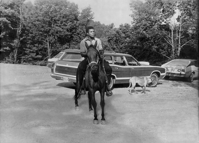 In Honor Of His 70th Birthday, Here's Muhammad Ali Riding A Horse