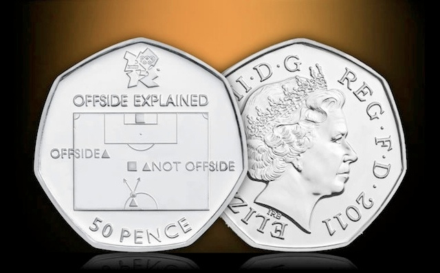 U.K.'s Royal Mint Releases Coin Explaining The Offside Rule