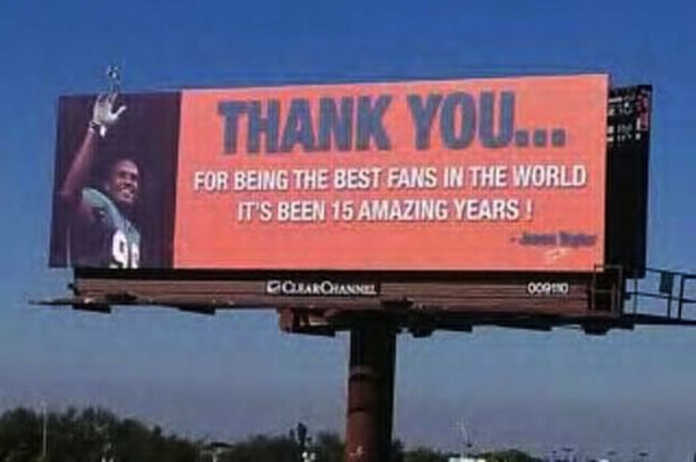 Jason Taylor Says Goodbye To Miami Fans With Message On His Forehead