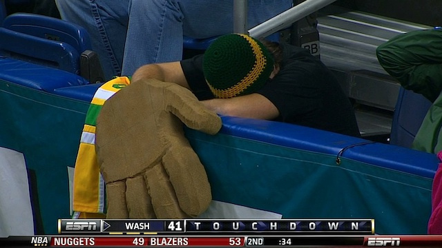 Aw, Cheer Up, Guy Who Wore A Big Bear Hand To The Alamo Bowl