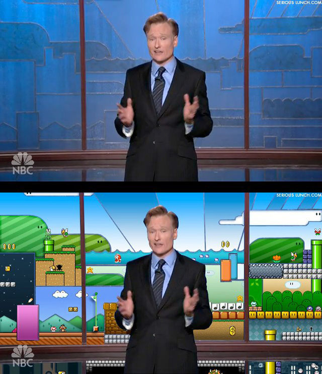 Conan's Tonight Show Backdrop Looks Way Familiar