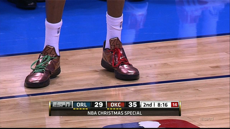 Kevin Durant's Christmas Kicks Are The Color Of Money, If That Money Is Pennies