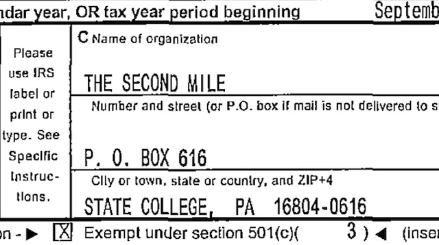 Sandusky Made Nearly $500K At The Second Mile After Admitting He Showered With A Boy, According To Tax Records