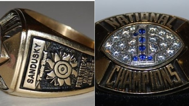 Jerry Sandusky's 1986 National Championship Ring Is Available Right Now On EBay