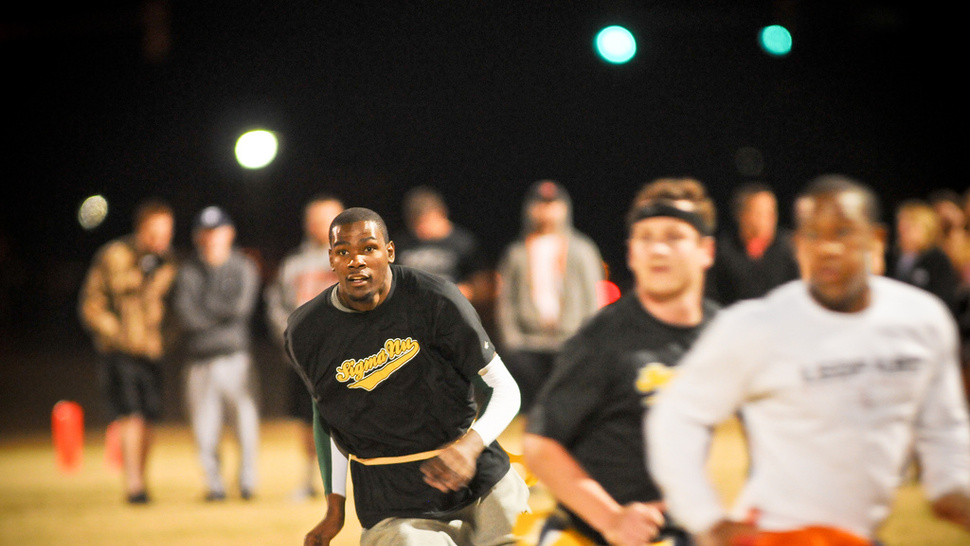When You Invite Kevin Durant To Play Intramural Flag Football, He Might Just Show Up