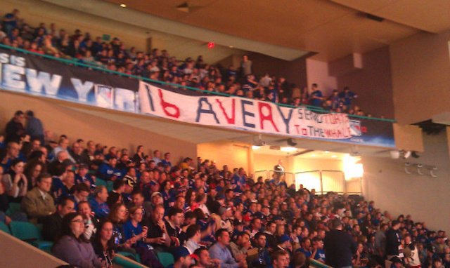 Sean Avery Made An Appearance at Madison Square Garden