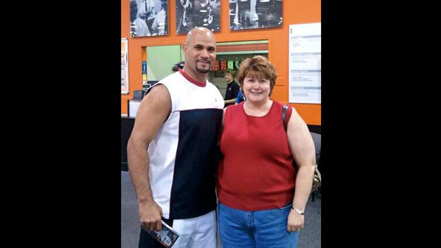 Spotted: Albert Pujols, Yesterday, At Best Buy, In A Sleeveless Shirt, Buying Captain America On DVD