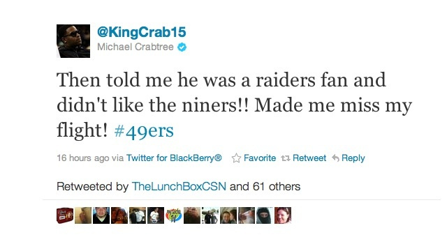Michael Crabtree Says He Missed A Flight Because He Got Pulled Over By A Cop Who's A Raiders Fan