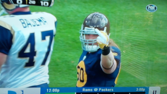 A.J. Hawk Has A Message For All Y'all Out There Watching The Packers/Rams Game