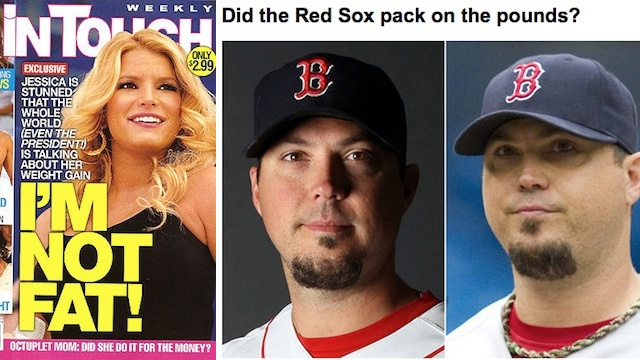 Who's Fatter, Josh Beckett Or Jessica Simpson?