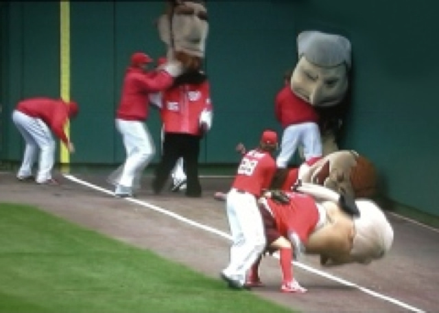 "Jayson Werth Meddled With The Nationals ""Presidents Race"" Again Today"