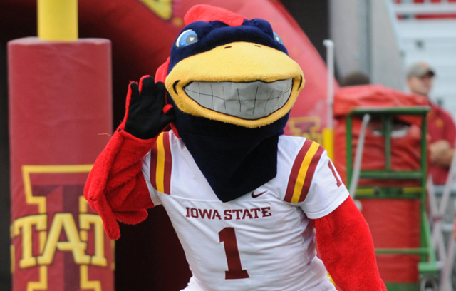 Did Some UConn Fans Break The Iowa State Mascot's Arm Last Night?