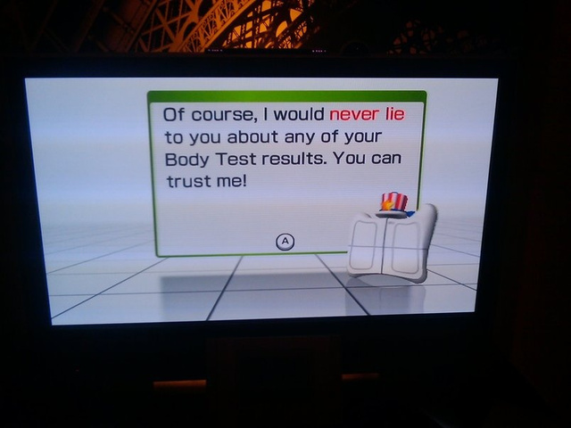 Wii Fit Says April Fools