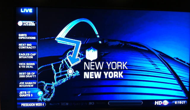 The NFL Network Cannot Locate New York City On A Map